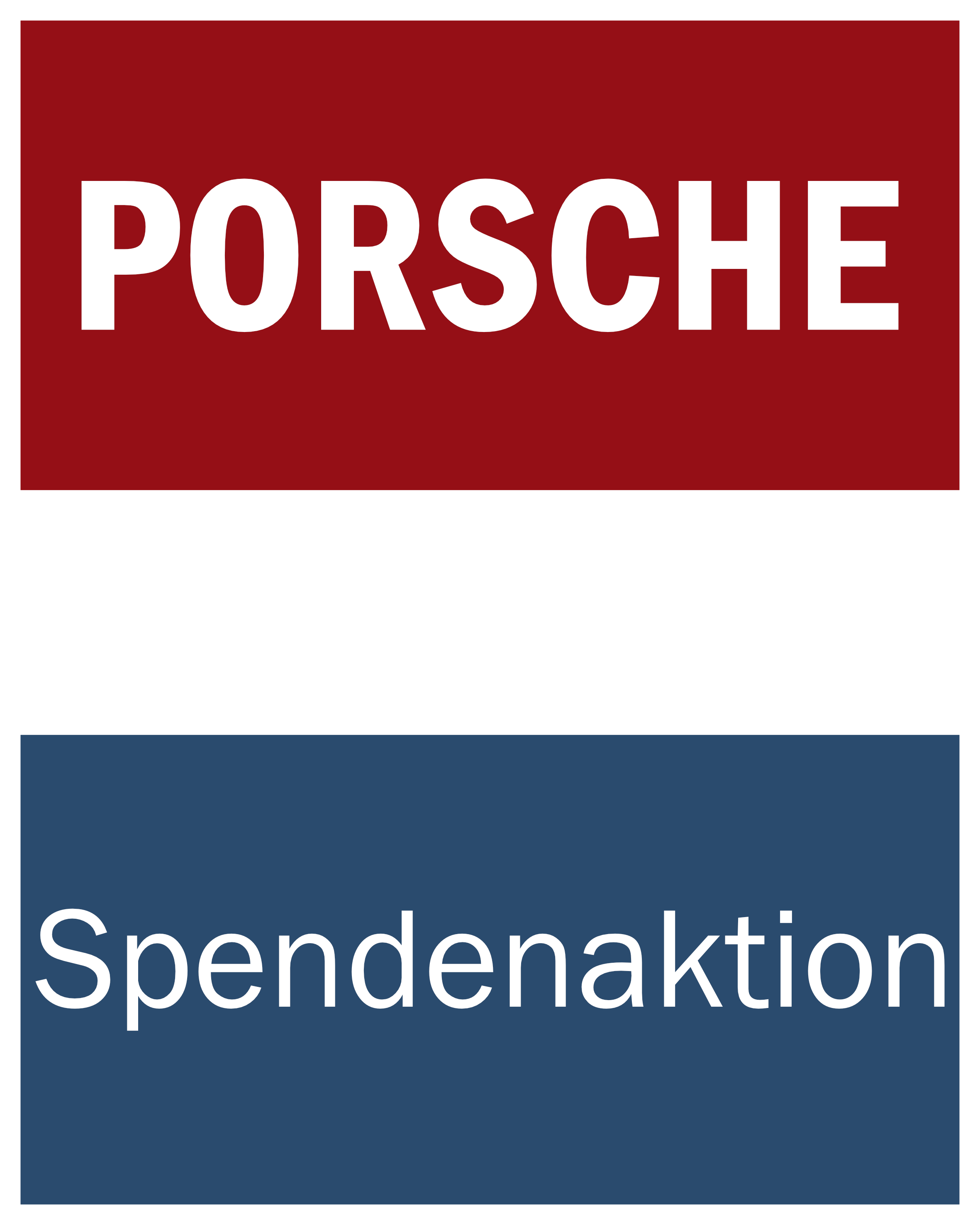 Porsche Spendenaktion