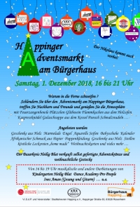 Adventsmarkt in Happing am 01.12.2018