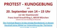 Kundgebung des Deutschen Tierschutzbundes