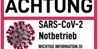 SARS-CoV-2 Notbetrieb